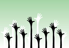 Hands reaching in the air Royalty Free Stock Image