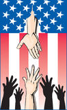 Hands Reaching for Government Handout Royalty Free Stock Photo