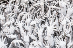 Hands reaching out from Hell Royalty Free Stock Photography
