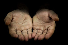 Hands reaching out towards camera Stock Photography