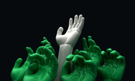 Hands Reaching Skyward Stock Images