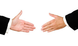 Hands ready for handshake Stock Photo