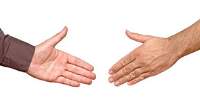 Hands ready for handshake Royalty Free Stock Photo