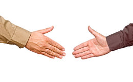 Hands ready for handshaking Royalty Free Stock Photography
