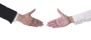 Hands Ready For Handshaking Royalty Free Stock Photos