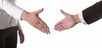 Hands Ready For Handshaking Stock Photography