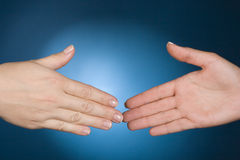 Hands ready to handshake Stock Photography