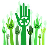 Hands with recycle concept Royalty Free Stock Photos