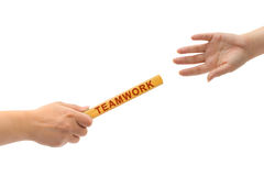 Hands and relay race Teamwork Royalty Free Stock Images