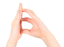 Hands represents letter B from alphabet Royalty Free Stock Image