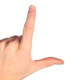 Hands represents letter L Stock Photo
