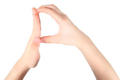 Hands represents letter P from alphabet Royalty Free Stock Images