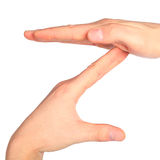 Hands represents letter Z Stock Photo