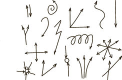 Hands: right, left, the y-axis, lines, curves, twisted, divergent, black, freehand drawing... Royalty Free Stock Images