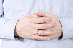 Hands With Ring Royalty Free Stock Image