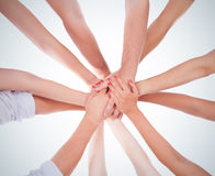 Hands ring teamwork Stock Image