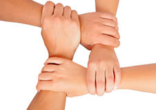 Hands ring teamwork Stock Photography