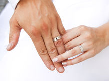 Hands and rings royalty free stock image