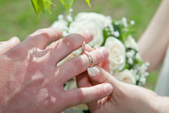 Hands with rings Royalty Free Stock Photos