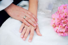 Hands with rings Royalty Free Stock Photo