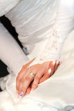 Hands and rings. Wedding Day Bride  hands With Rings Royalty Free Stock Photography