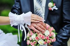 Hands and rings Royalty Free Stock Photography