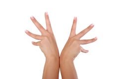 hands s-kvinnan vektor illustrationer