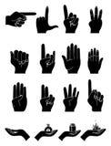 Hands samlingen Royaltyfria Foton