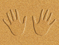Hands in the Sand Illustration Royalty Free Stock Images