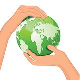 Hands Save The Earth Stock Photography
