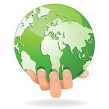 Hands Save The Earth Conceptual. Stock Images