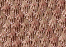 Hands Scales. Pattern with many human hands Stock Photography