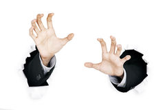 Hands scratching Royalty Free Stock Image