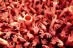 Hands sculpture frome hell Stock Photos