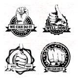 Hands seals stock illustration