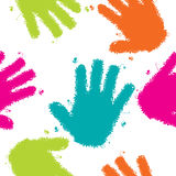 Hands seamless background Royalty Free Stock Photos