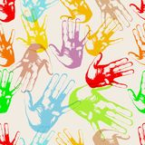 Hands, seamless background texture, pattern Stock Image