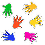 Hands seamless pattern Royalty Free Stock Photos