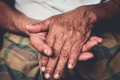 hands of senior man Royalty Free Stock Photo