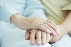 Hands of seniors Royalty Free Stock Photo