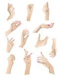 Hands set 1 Stock Image