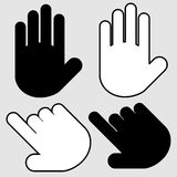 Hands set vector. Hands set. This is file of EPS8 format Royalty Free Stock Photo