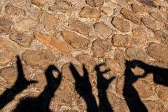 Hands shadow. Word love of hands shadow stock image