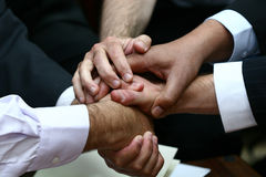 Hands shake. Business men shaking habds Royalty Free Stock Photos