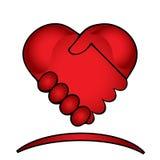 Hands shake logo Stock Images