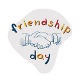 Hands Shaking Sketch Friendship Day Royalty Free Stock Image