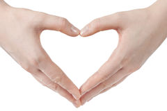 Hands in shape of heart Royalty Free Stock Photography