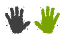 Hands shape silhouette. Royalty Free Stock Images