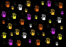 Hands shapes background Stock Photos