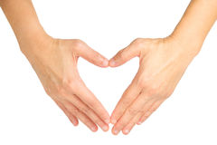 Hands shaping a heart symbol Royalty Free Stock Photos